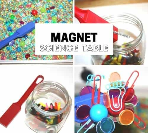 Preschool Discovery Table For Exploring Magnets