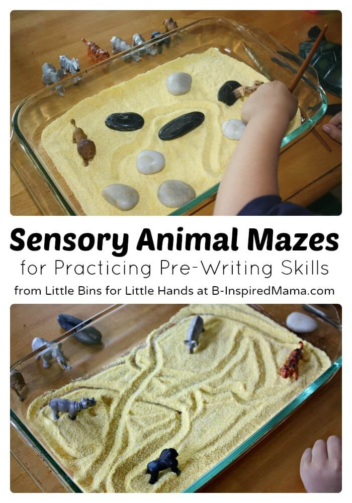 Sensory Animal Mazes for Developing Pre-Writing Skills