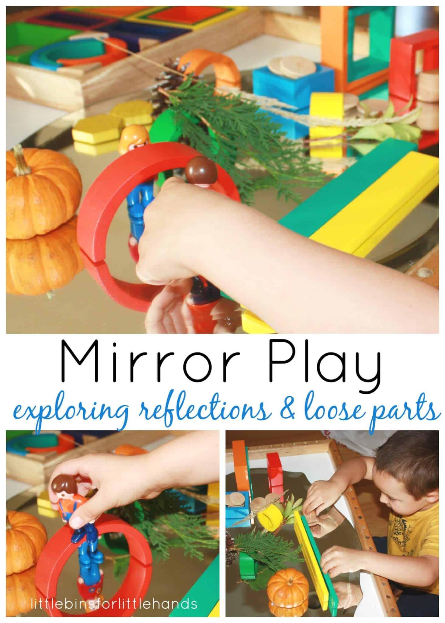 Preschool Discovery Table: Mirror Play