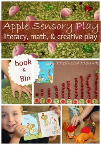 Ten Apples Sensory Bin Play Book And Bin Series With Ten Apples Up On Top