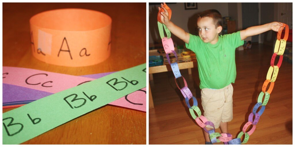 alphabet chain making