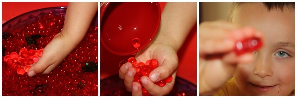 apple water bead scoop trio