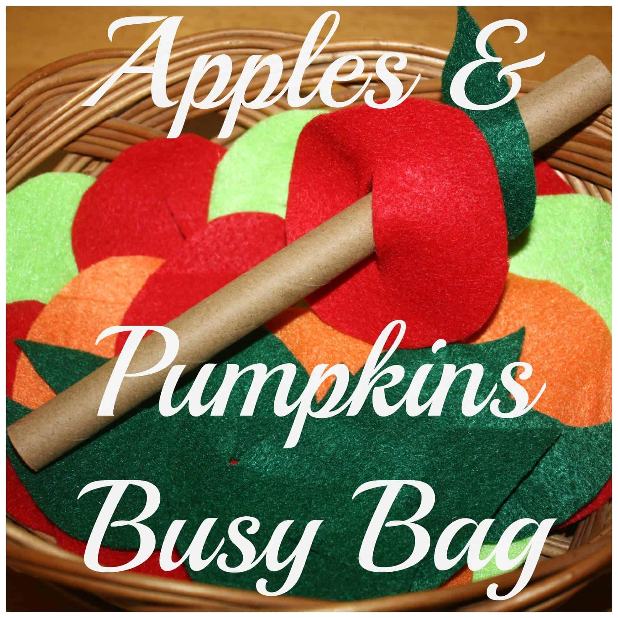 DIY Apples & Pumpkins Fall Threading Activity