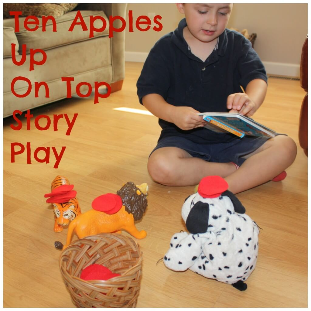 books and bins apples story play animals