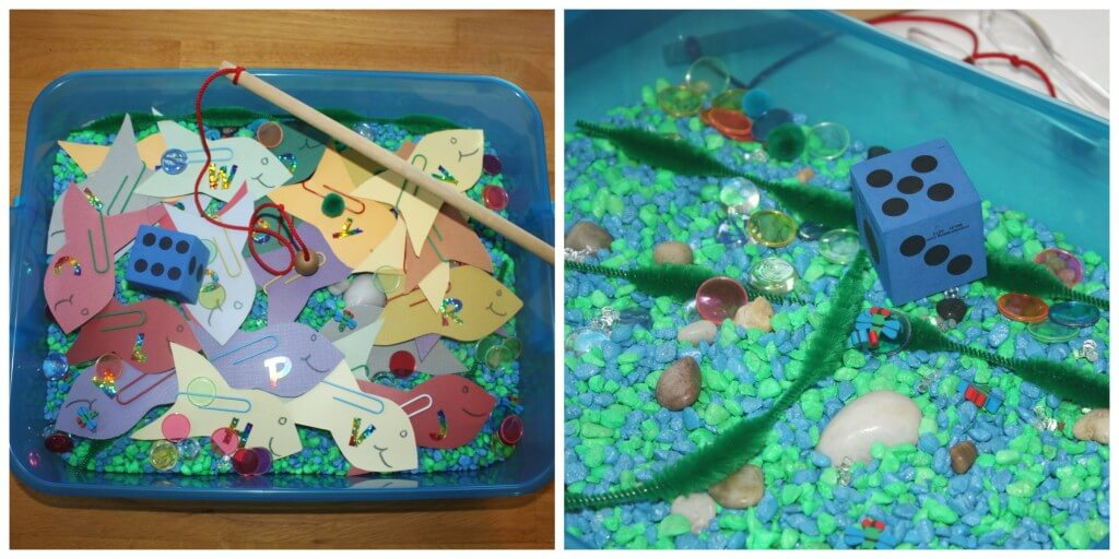 fishing sensory play duo