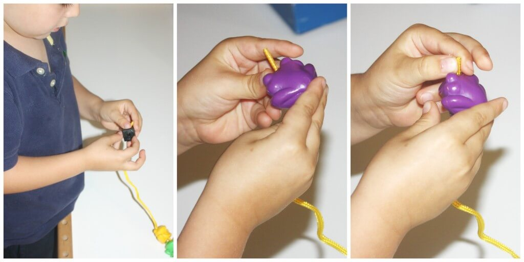 lacing fine motor trio