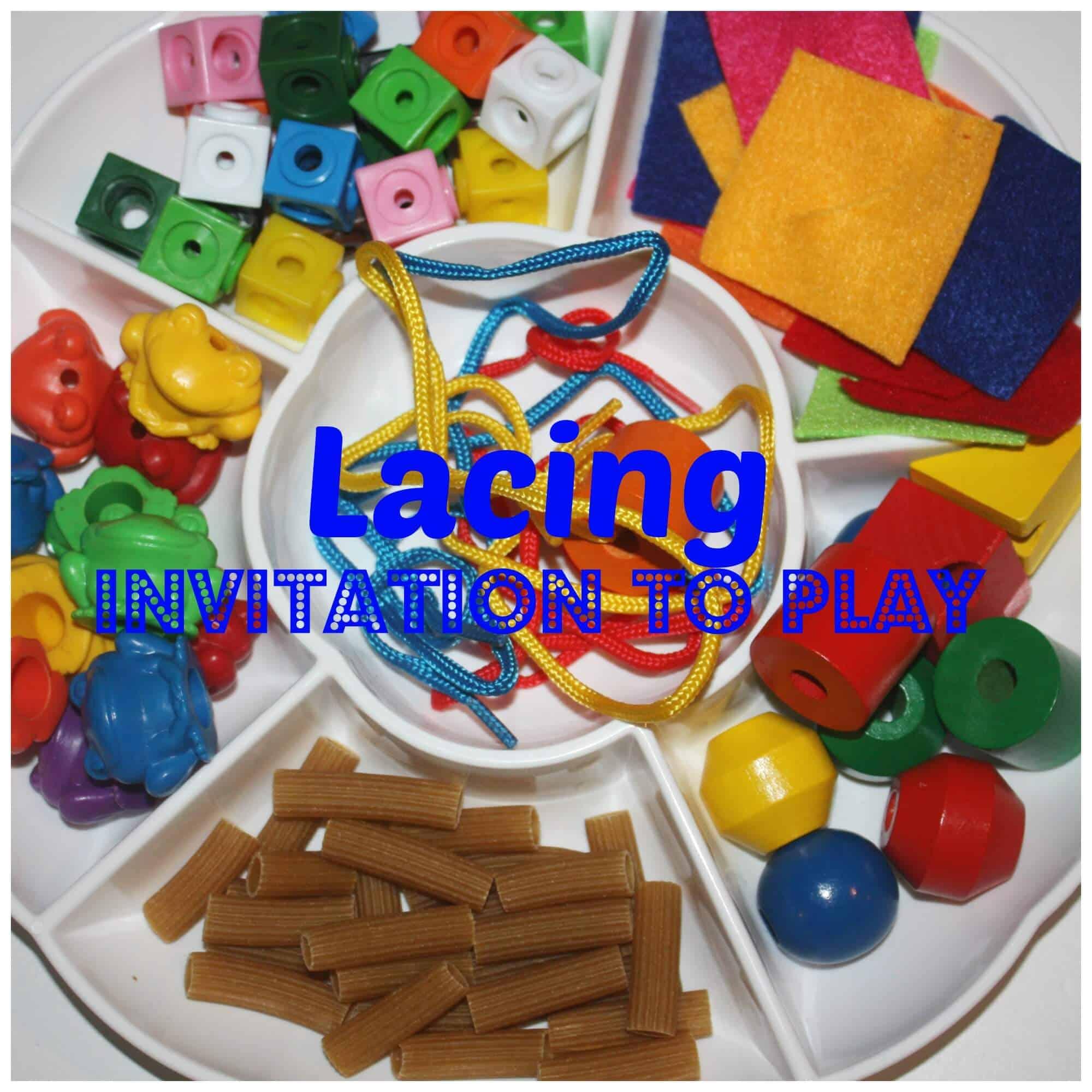 Lacing Tray Invitation to Play