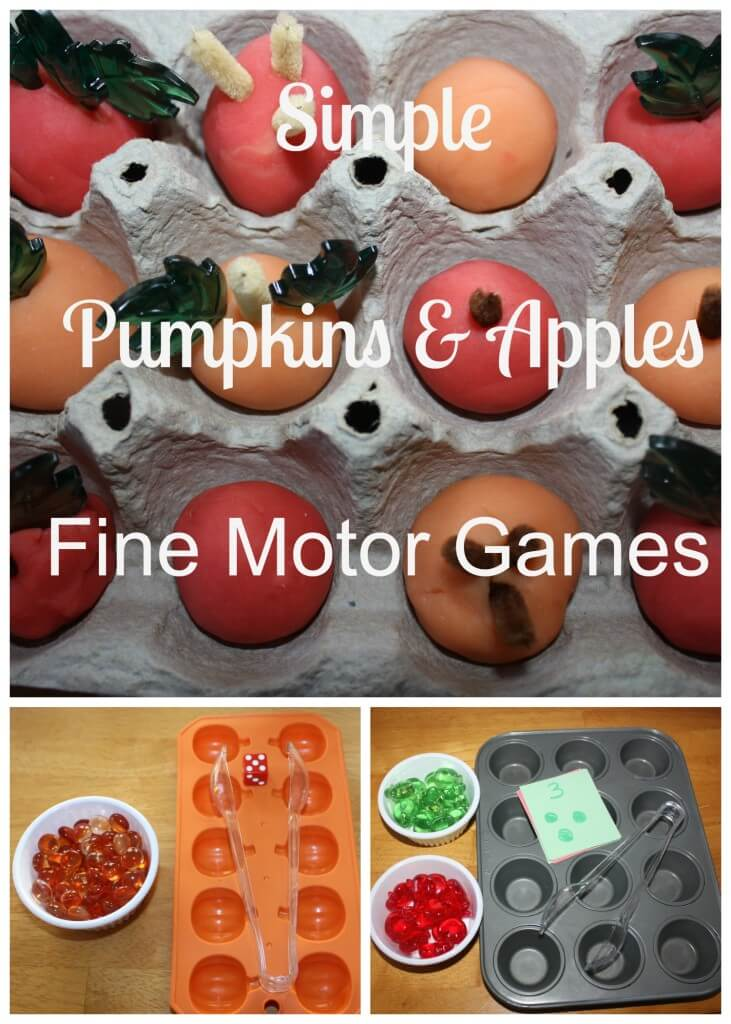 simple pumpkins and apples fine motor games cover