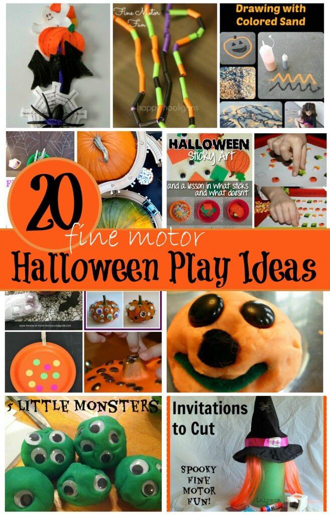 20 Fine Motor Halloween Play Ideas