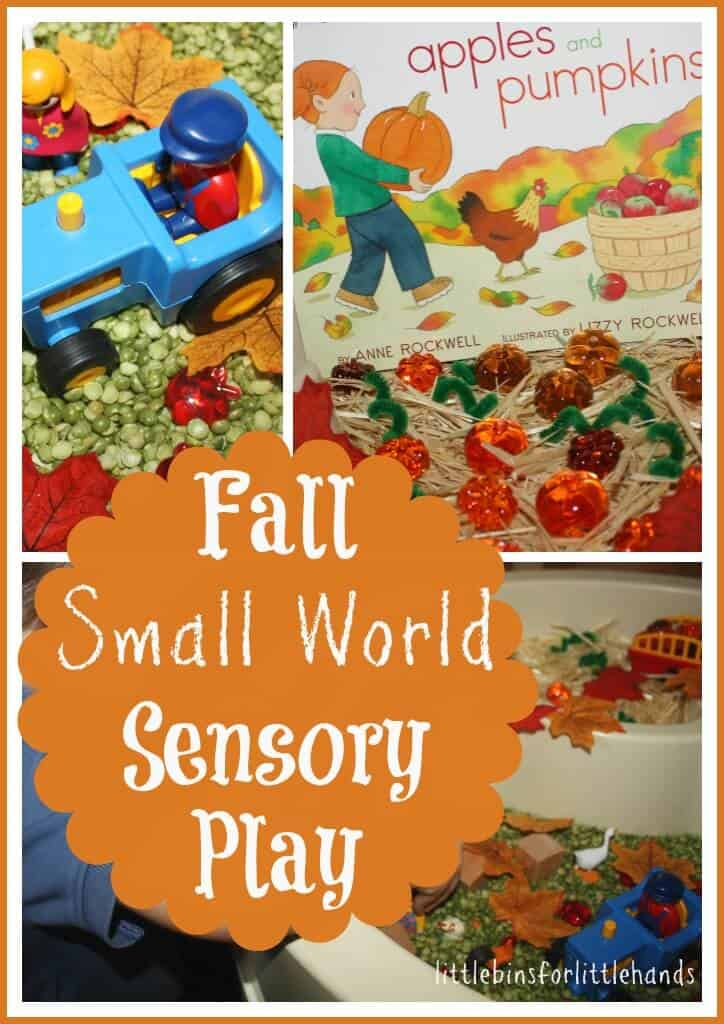 Apples And Pumpkins Fall Small World Sensory Bin Play