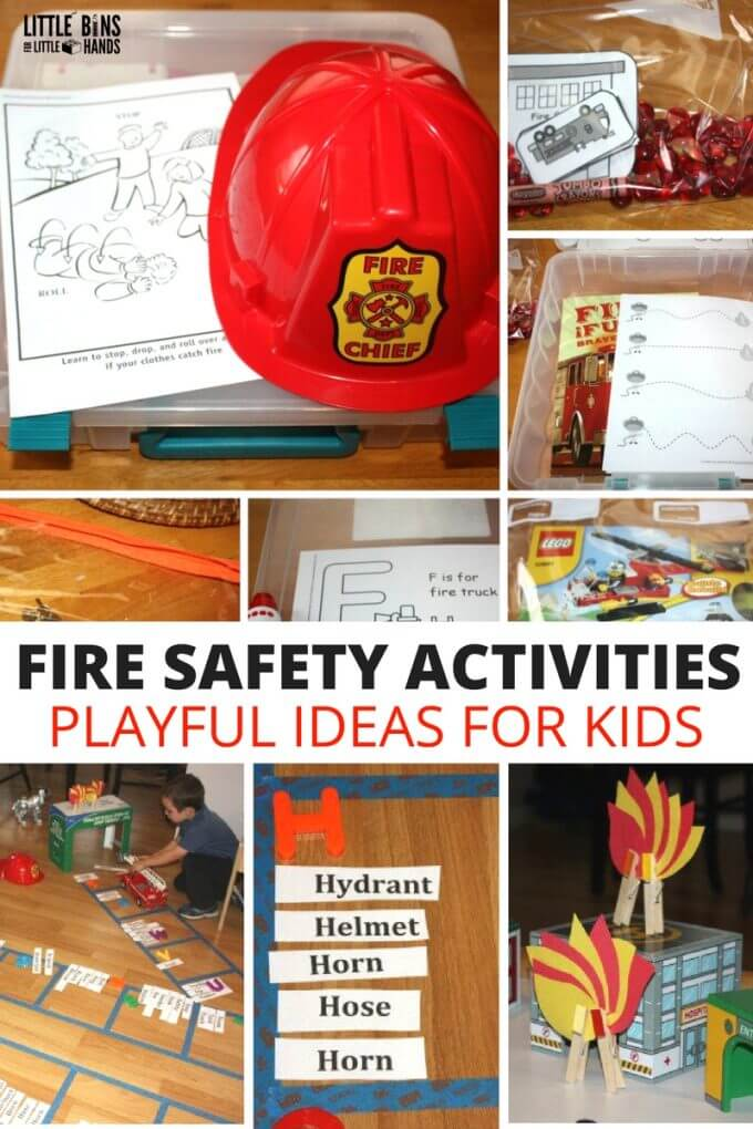 Fire Safety Play Activities and fire Safety Learning Games for Kids