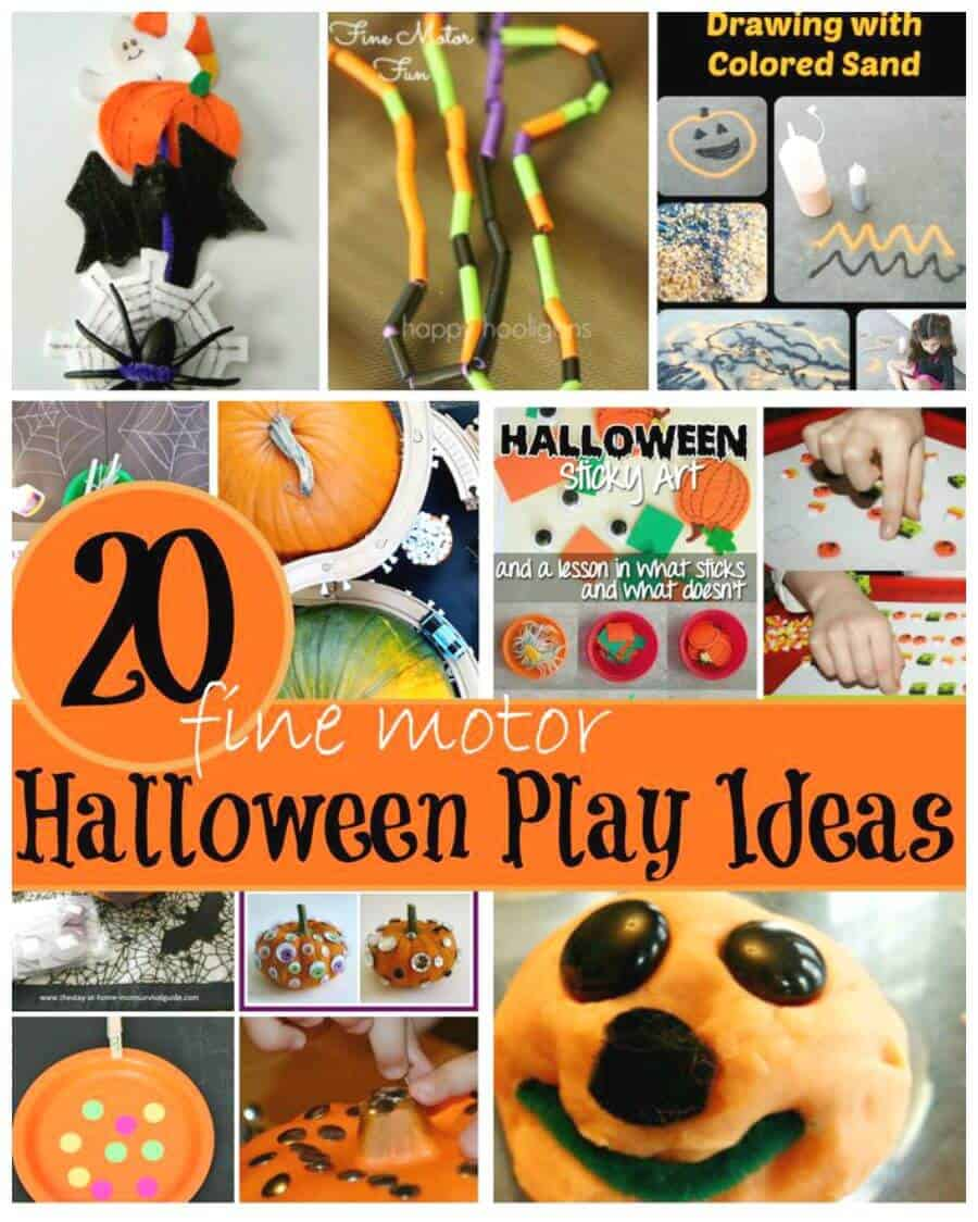 Halloween Fine Motor Skills Activities for Kids