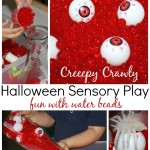 Halloween Sensory Play With Water Beads Spiders And Eye Balls