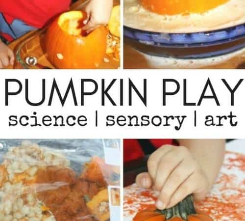 Easy Pumpkin Sensory Play and Science for Kids