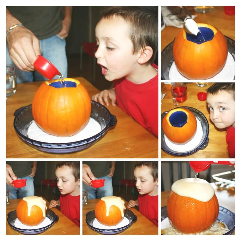 Pumpkin Volcano Science Activity Making The Volcano
