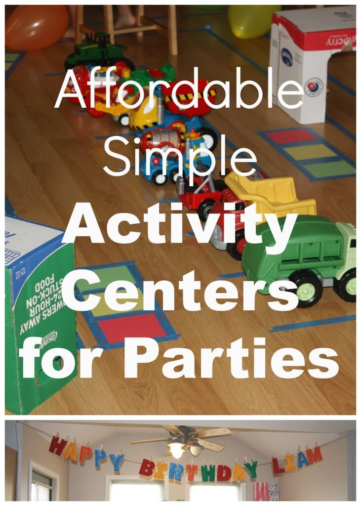 budget friendly party with sign