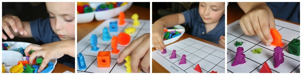 color round up grid game