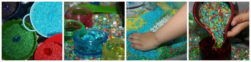 color round up rainbow rice