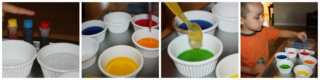 color round up water color mixing