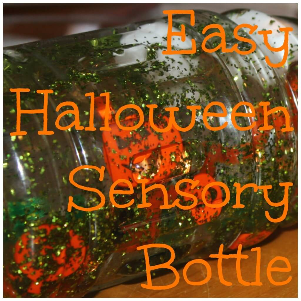 easy halloween sensory bottle text