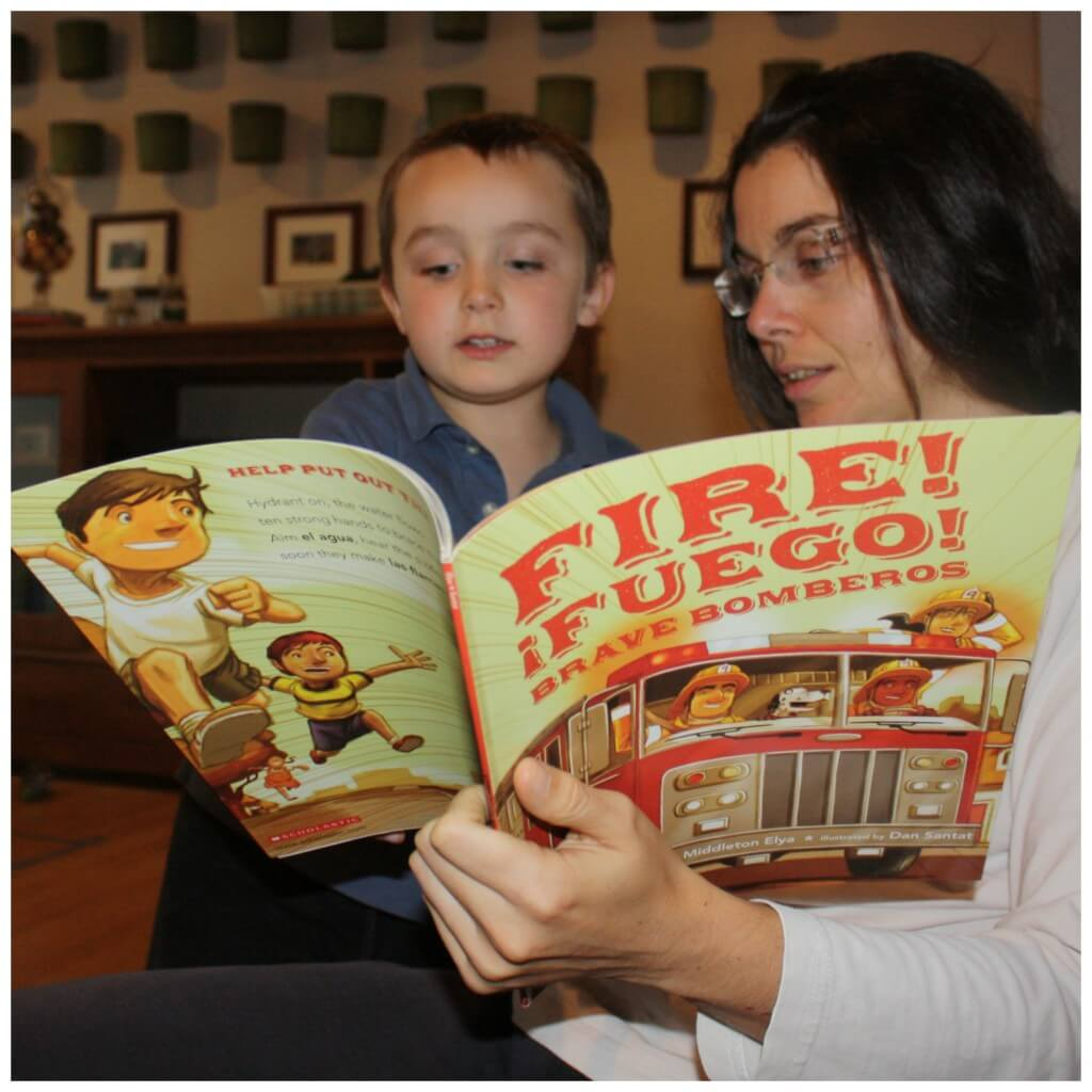 fire safety book reading with mommy