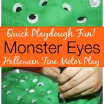 halloween Play Dough Monster Eyes Fine Motor Activity