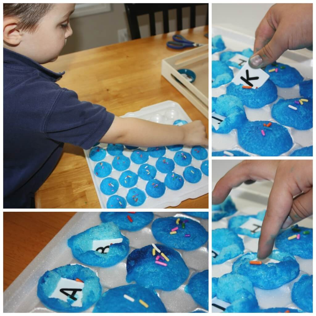 m messy alphabet cupcake letters
