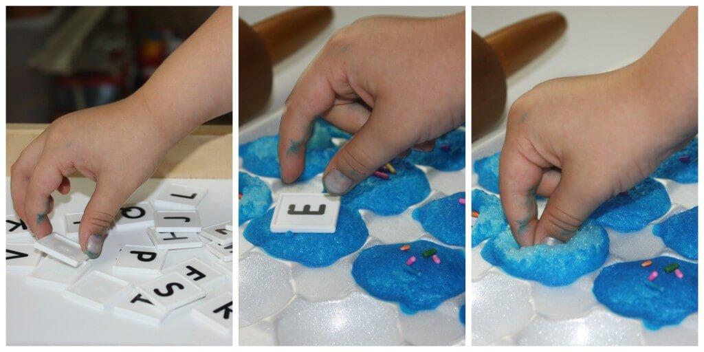 m messy alphabet cupcake letters trio