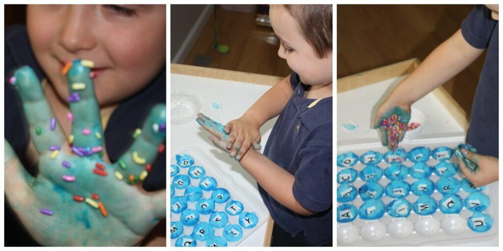 m messy alphabet free play