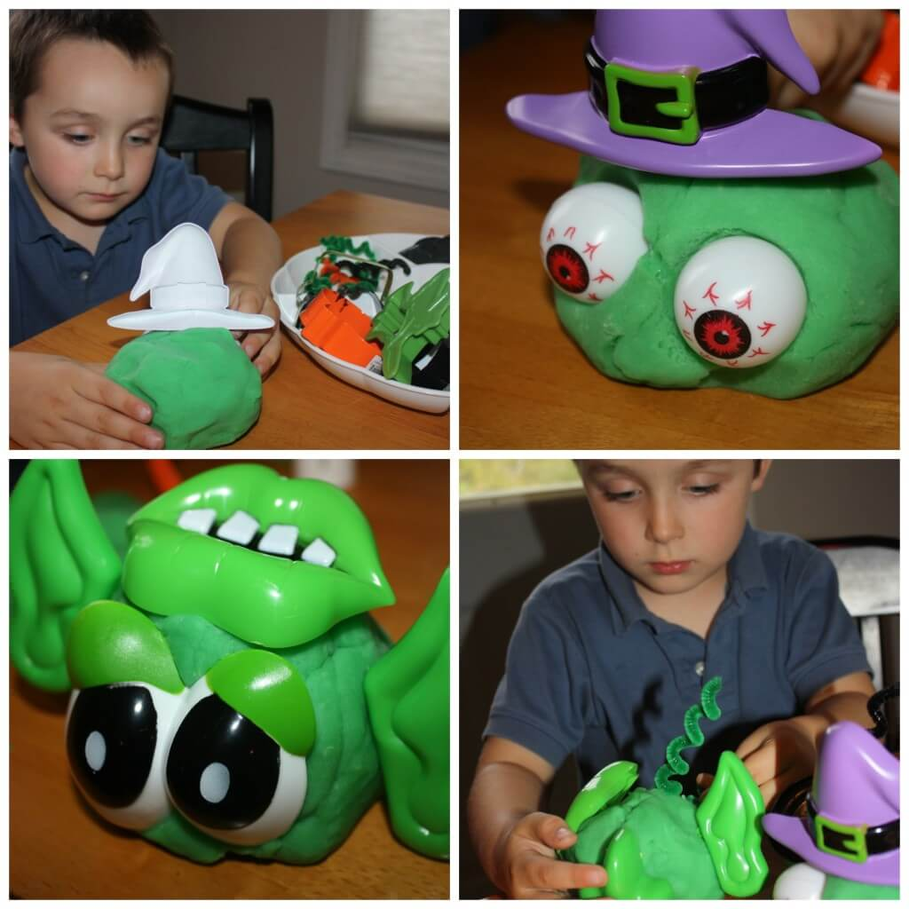 monster making play dough witch