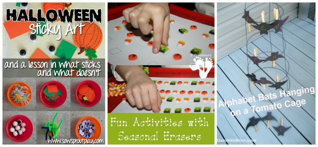 round up fine motor halloween mixed