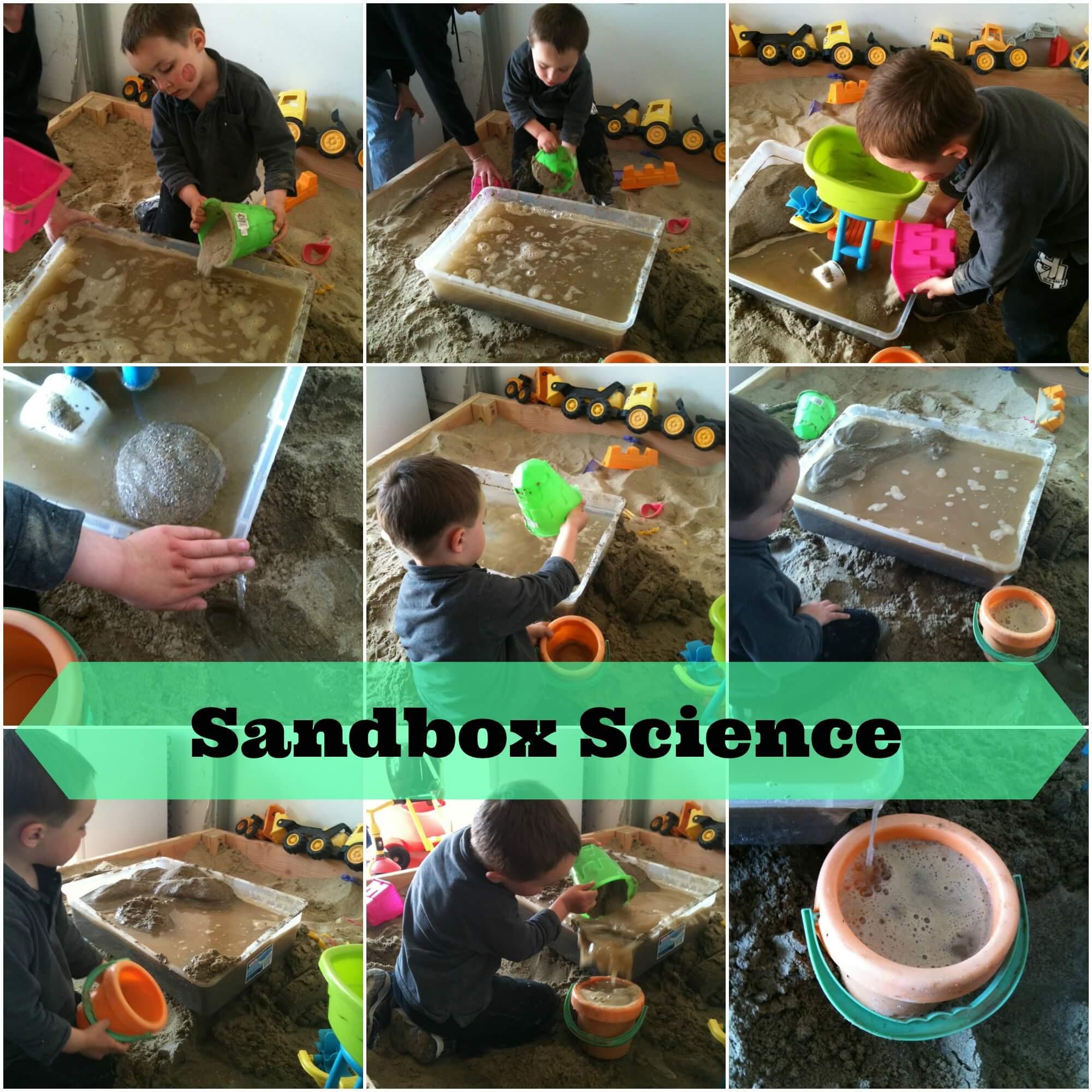 Simple Sensory Preschool Sandbox Science