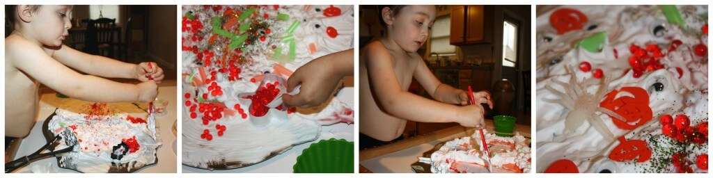 water beads and shaving cream busy play