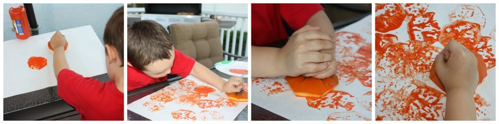 whole pumpkin play painting
