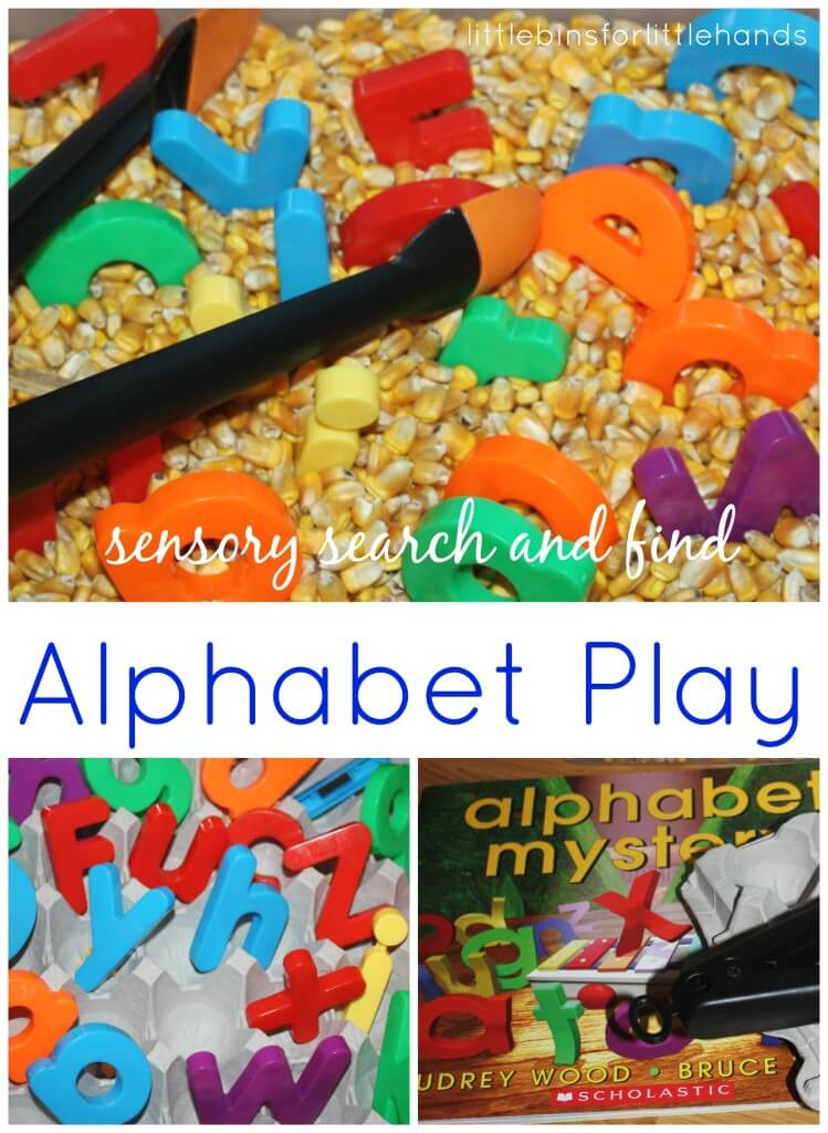 Alphabet Sensory Play Search and Find Alphabet Mystery Book Play
