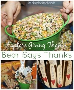 Bear Says Thanks Sensory Bin Exploring Gratitude