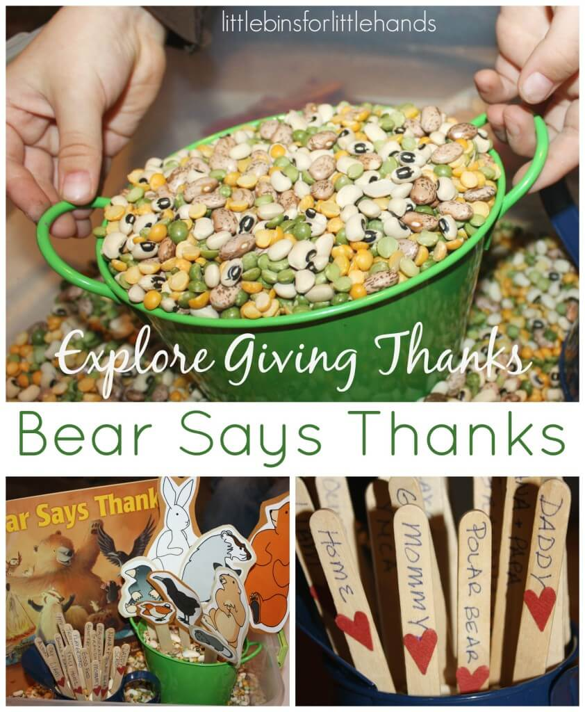 Bear Says Thanks Sensory Bin Exploring Gratitude