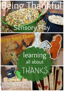 Bear Says Thanks Sensory Play Bin Learning About Being Thankful