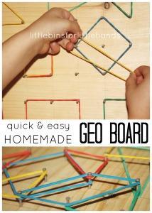 Geo Board Homemade Geo Board DIY Geo Board