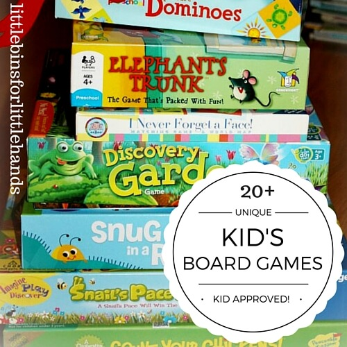 Kindergarten and Preschool Board Games Ages 3-8 Unique Games for Kids