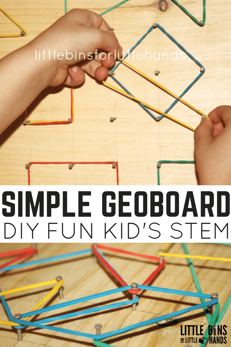 Simple Geo Board For Fine Motor And Stem Learning