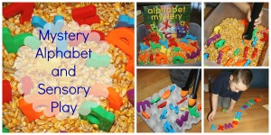 alphabet fun play corn bin book