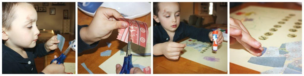 homemade birthday card fine motor skills scissors cutting skills