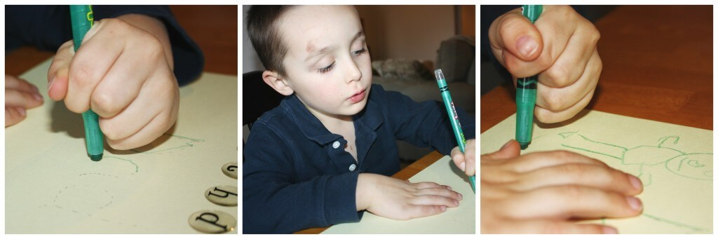 homemade birthday card fine motor skills writing and drawing
