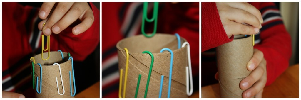 mini activity fine motor skills paperclips
