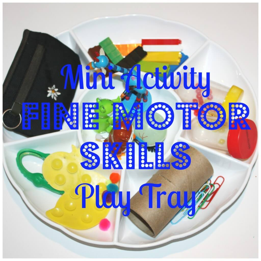 mini activity fine motor skills tray