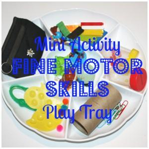 mini activity fine motor skills tray