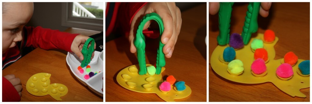 mini fine motor activity ducky tweezing
