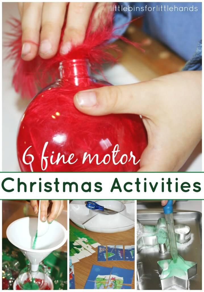 6 Christmas Fine Motor Activities