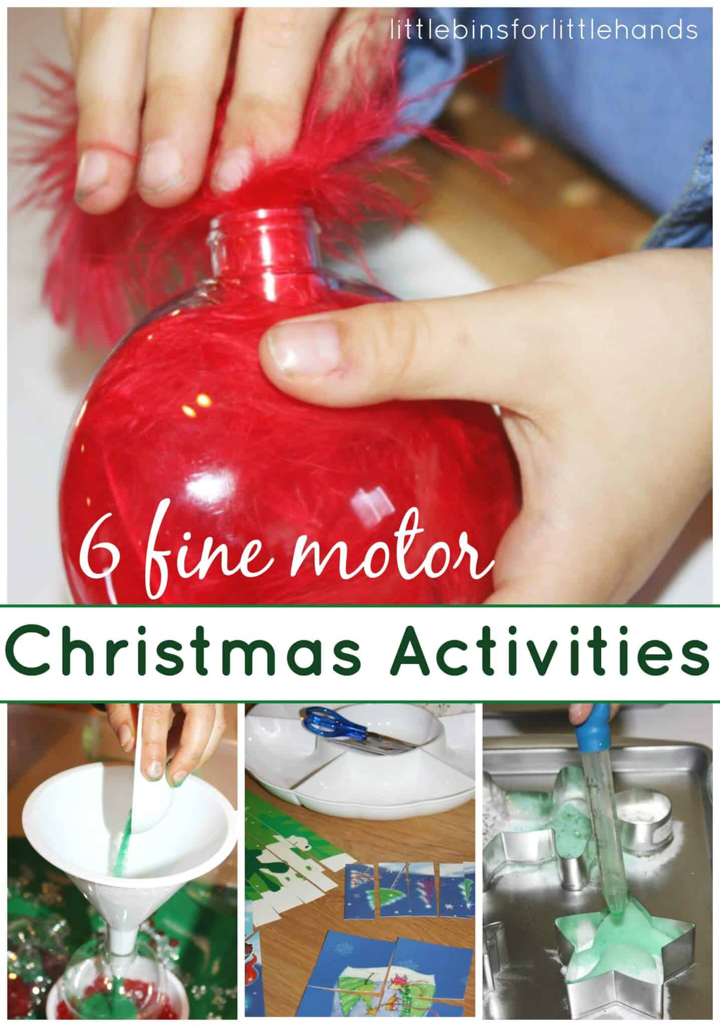 Our Favorite Christmas Fine Motor Activities {Fine Motor Friday}